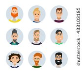 set of diverse round avatars... | Shutterstock .eps vector #433103185
