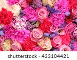 bridal decorative flower... | Shutterstock . vector #433104421