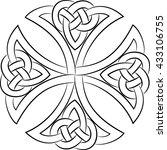 celtic knot cross  isolated on...   Shutterstock .eps vector #433106755