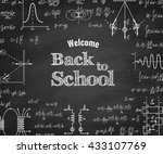 welcome back to school with... | Shutterstock .eps vector #433107769