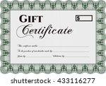 vector gift certificate... | Shutterstock .eps vector #433116277