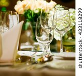 Small photo of The elegant dinner table.