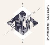 abstract art geometric... | Shutterstock .eps vector #433118347