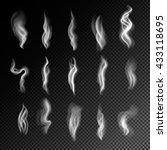 cigarette smoke on transparent... | Shutterstock .eps vector #433118695