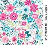 cute pattern in small flower.... | Shutterstock .eps vector #433120081