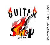 Постер, плакат: Guitar Shop Logotype Concept