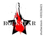 rockstar logotype logo badge... | Shutterstock .eps vector #433126621