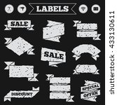stickers  tags and banners with ...   Shutterstock .eps vector #433130611