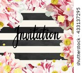 vector invitation template with ... | Shutterstock .eps vector #433137295