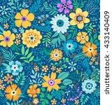 cute pattern in small flower.... | Shutterstock .eps vector #433140409
