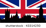 union jack with houses of the... | Shutterstock .eps vector #43314250
