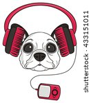 puppy snout french bulldog... | Shutterstock . vector #433151011