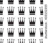 simple vector crown icon pattern | Shutterstock .eps vector #433152355