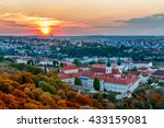 Sunset Over Prague In Autumn ...