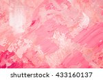 hand drawn oil painting.... | Shutterstock . vector #433160137