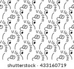 seamless pattern with doodle... | Shutterstock .eps vector #433160719