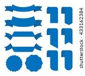 banner ribbon vector set... | Shutterstock .eps vector #433162384