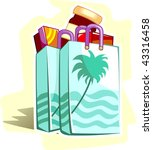 illustration of shopping pouch... | Shutterstock .eps vector #43316458