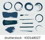 set of grunge banners  strokes... | Shutterstock .eps vector #433168027