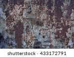 rusted background with gray and ... | Shutterstock . vector #433172791