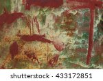 wall  background with red and... | Shutterstock . vector #433172851