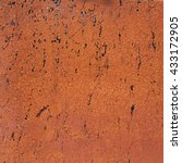 rusted metal background with... | Shutterstock . vector #433172905