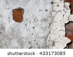 aged cracked  wall background... | Shutterstock . vector #433173085