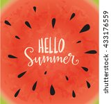 hello summer typographic vector ... | Shutterstock .eps vector #433176559