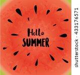 hello summer typographic vector ... | Shutterstock .eps vector #433176571