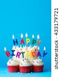 birthday cake with happy... | Shutterstock . vector #433179721