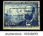 chile   circa 1948  a stamp... | Shutterstock . vector #43318693
