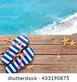 Summer Flip Flops And Seashell...