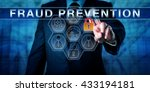 male forensic expert is... | Shutterstock . vector #433194181