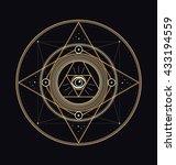 sacred symbols design  ... | Shutterstock .eps vector #433194559