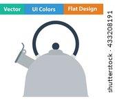 kitchen kettle icon. flat...