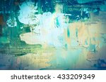 hand drawn oil painting.... | Shutterstock . vector #433209349
