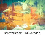 hand drawn oil painting.... | Shutterstock . vector #433209355
