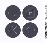 arrows icons. downstairs  next...