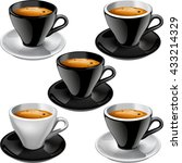 set of vector illustrations of...   Shutterstock .eps vector #433214329