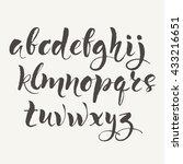 hand written alphabet.... | Shutterstock .eps vector #433216651