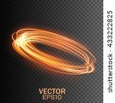 glow light effect. glowing fire ... | Shutterstock .eps vector #433222825