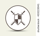 sword and shield icon | Shutterstock .eps vector #433223041