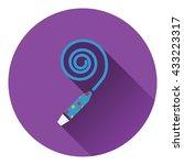 party whistle icon. flat design....