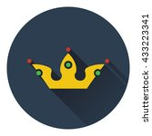 party crown icon. flat design....