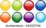 shiny web button set | Shutterstock . vector #43322740