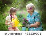 happy grandmother with her... | Shutterstock . vector #433229071