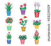 set of houseplant  home... | Shutterstock . vector #433229329