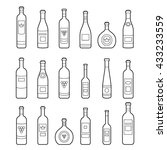 set of bottles outline.... | Shutterstock .eps vector #433233559