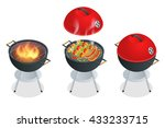 barbecue design elements. grill ... | Shutterstock .eps vector #433233715