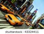 new york city yellow cab taxi ... | Shutterstock . vector #43324411